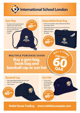 ISLQ Special Bundle - GYM BAG & BOOK BAG & CAP or HAT