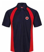 KC SPORT POLO SHORT SLEEVE SCARLET/NAVY