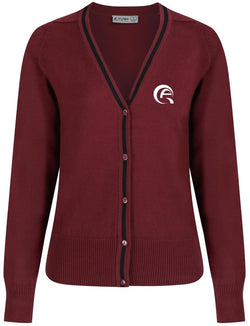 AWSAJ GIRLS CARDIGAN - MULBERRY & BLACK - AWSAJ