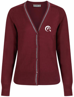 QAK GIRLS CARDIGAN - MULBERRY & GREY - AL KHOR