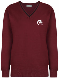 AWSAJ BOYS JUMPER - MULBERRY & BLACK - AWSAJ