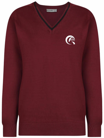 QAK BOYS JUMPER - MULBERRY & BLACK - AL KHOR