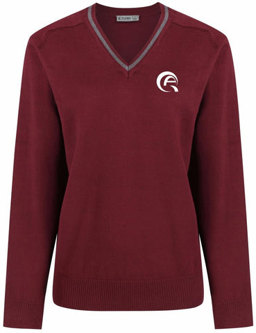QAK BOYS JUMPER - MULBERRY & GREY - AL KHOR