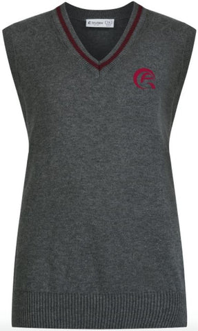 QAW COTTON TANK TOP - GREY & MULBERRY - WAKRA