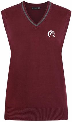 QAD COTTON TANK TOP - MULBERRY & GREY - DOHA