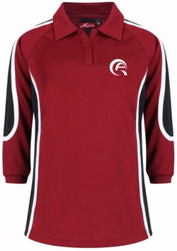 QAS GIRLS SPORTS POLO - LONG SLEEVED - SIDRA