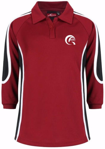 QAM GIRLS SPORTS POLO - LONG SLEEVED - MSHEIREB