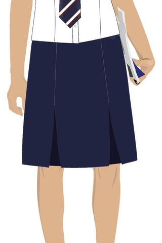 QFIS GIRLS SENIOR TWO POCKET SKIRT - NAVY