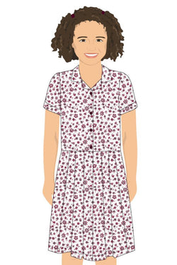 PHOENIX MAROON POLKA DOT SUMMER DRESS