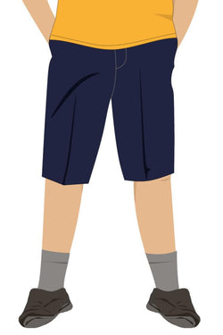 QFIS BOYS SHORTS - NAVY
