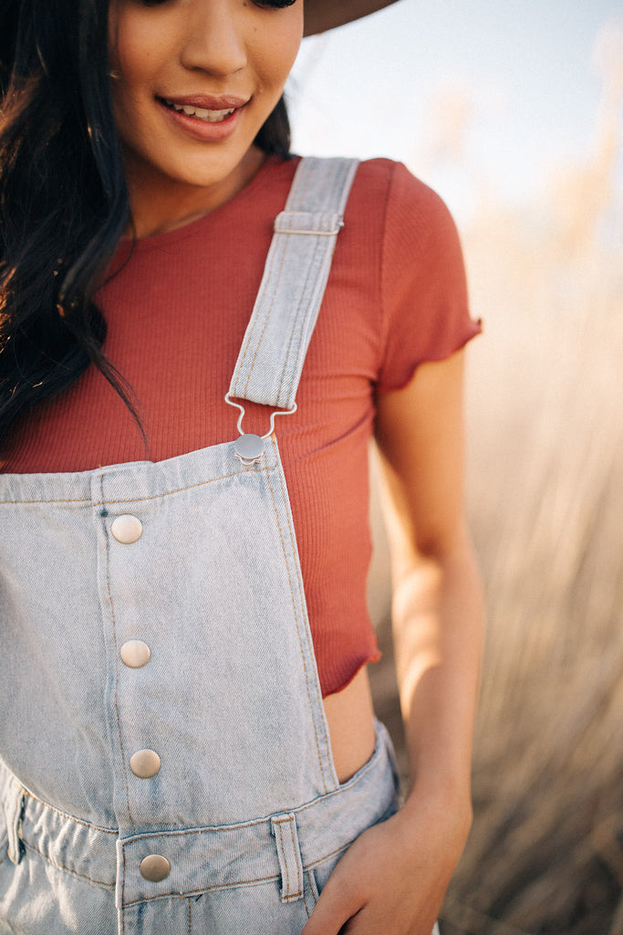 button down overalls