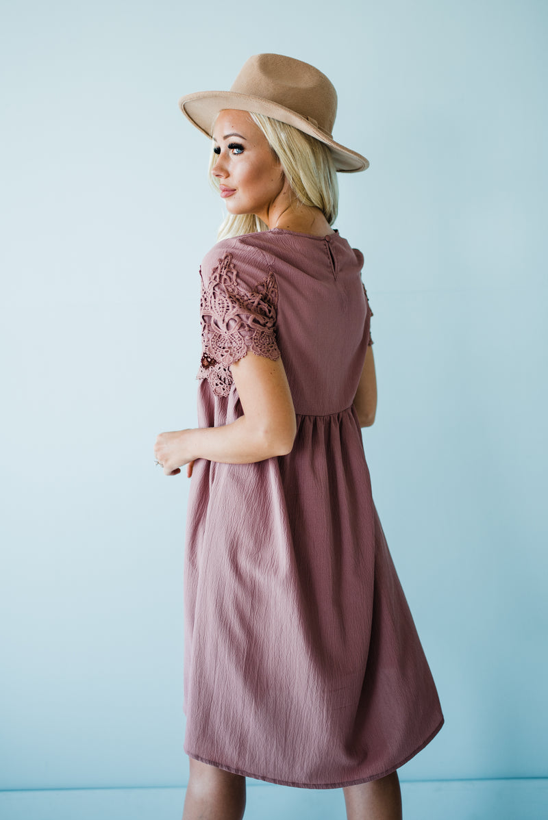 Adalynn Dress in Dark Mauve