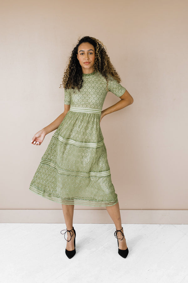 Malorie Dress in Olive