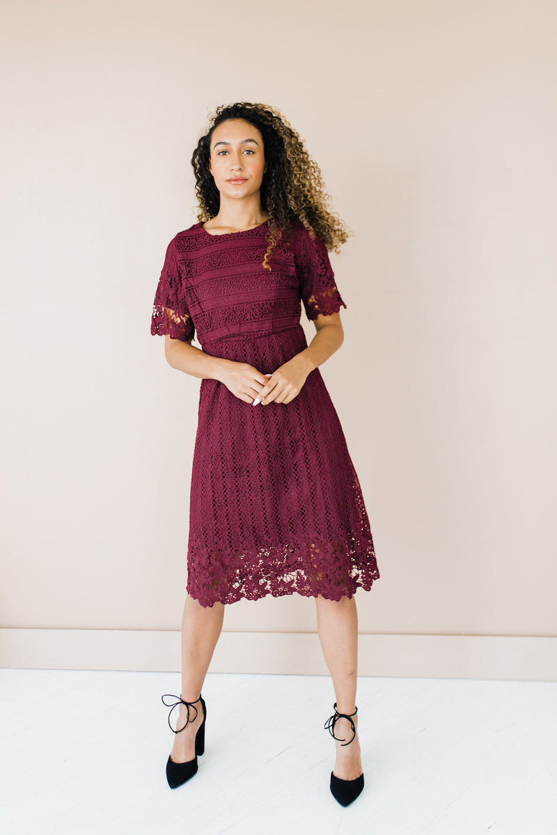 Marcie Dress in Wine