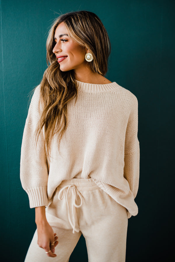 Veronica Sweater in Taupe