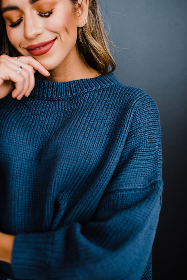 Veronica Sweater in Moody Blue