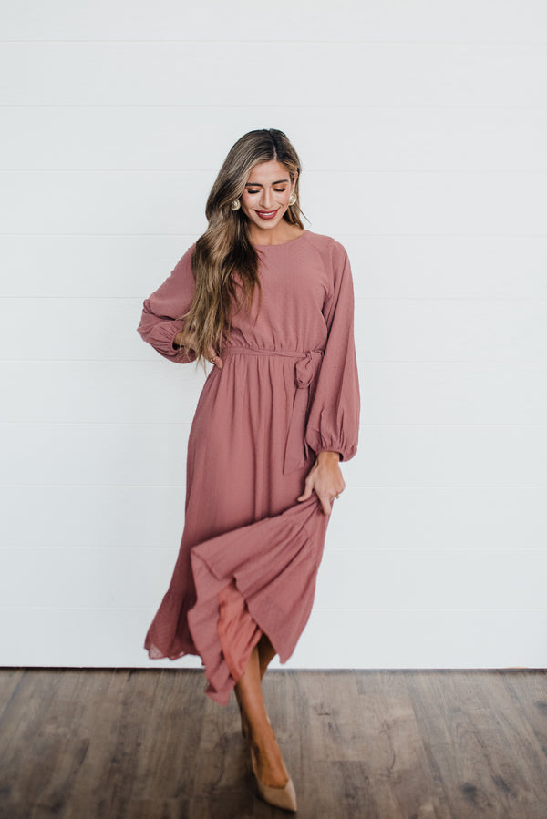Danielle Dress in Rose