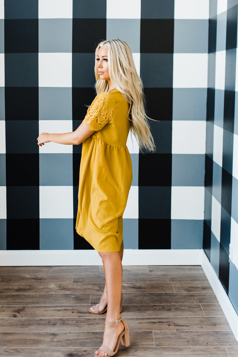 Magnolia Dress in Mustard