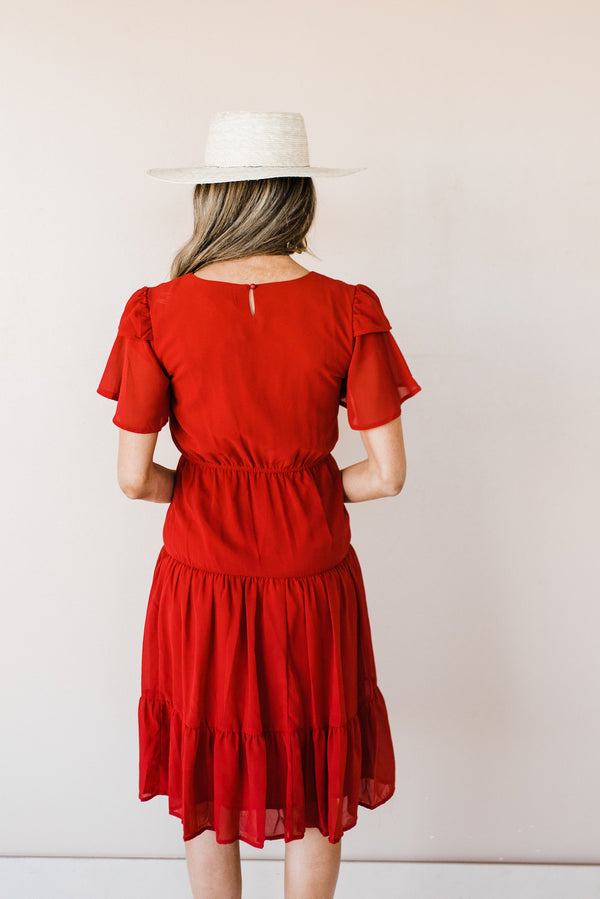 Amara Dress in Red
