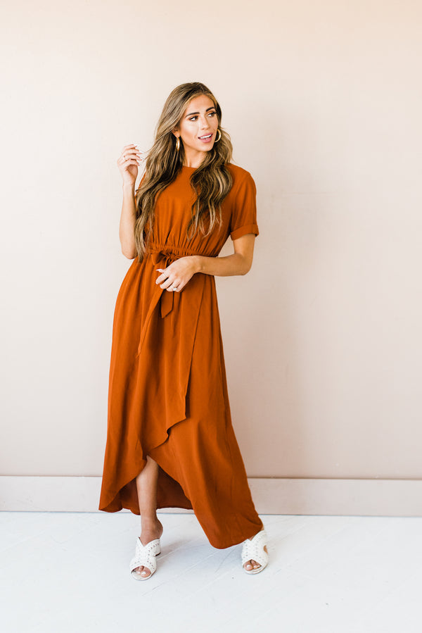 Esther Dress in Rust