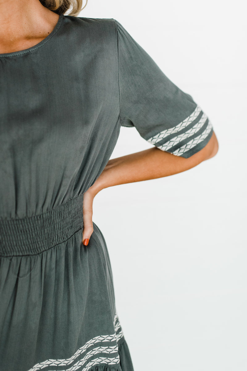Margot Dress in Olive