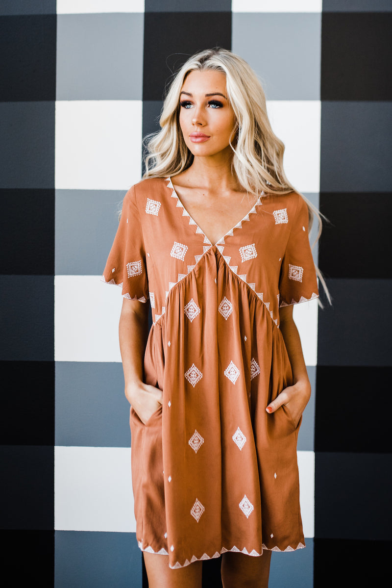 Beverly Dress in Camel