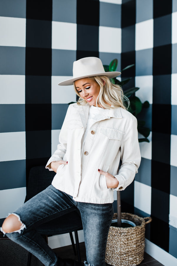 Jemma Jacket in Ivory