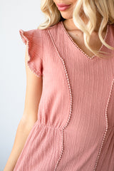 Pink/Mauve Dress with gorgeous detail