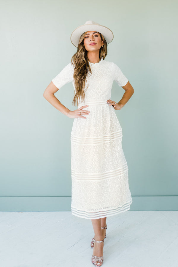 Malorie Dress in Ivory