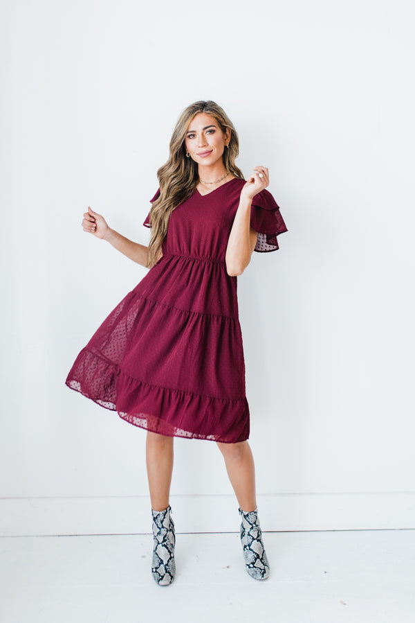 Burgundy Holiday Dress
