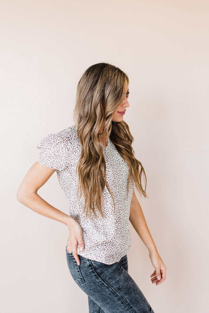 Brittany Top in Cream