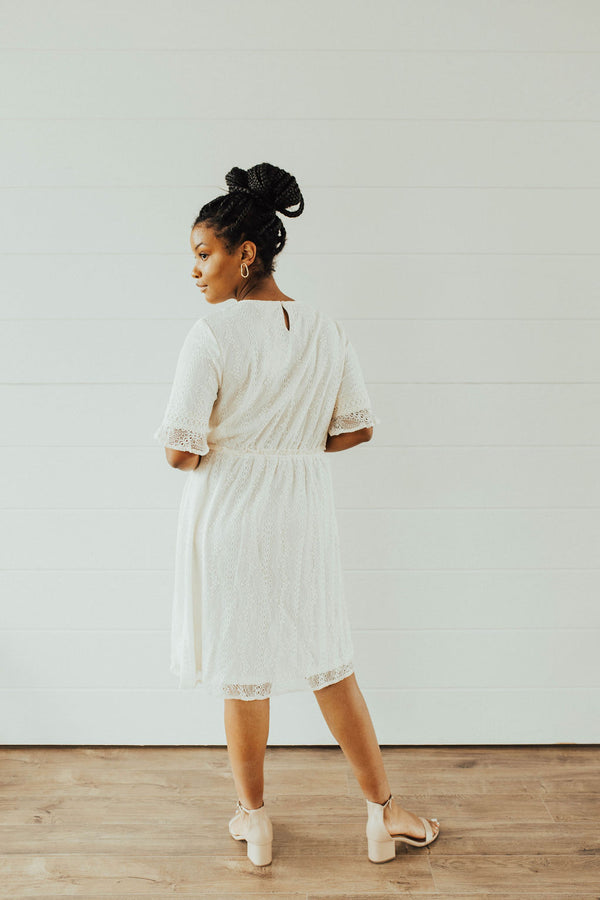 Lydia Dress in Cream