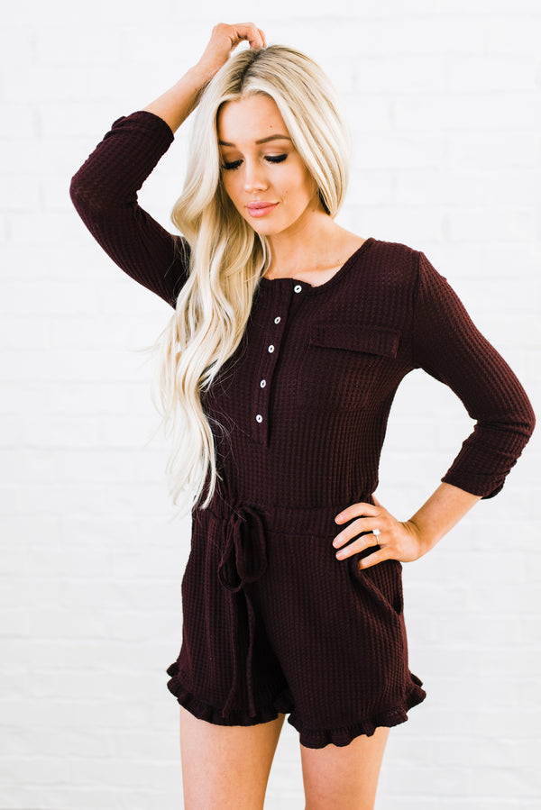 Meg Romper in Burgundy