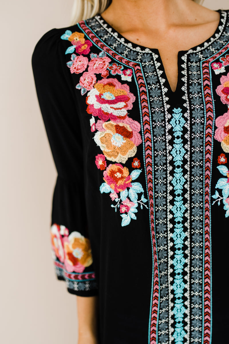 Cute women's top with embroidery