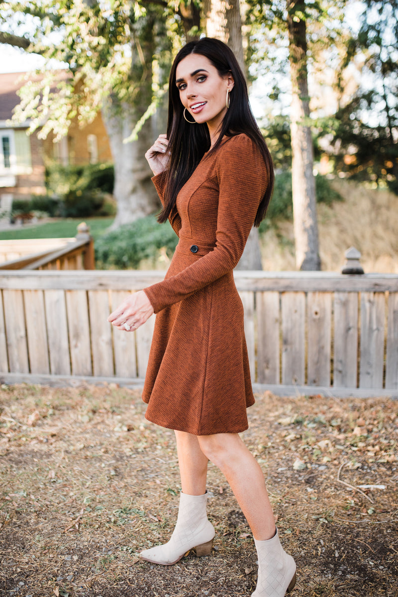 Riley Dress in Rust