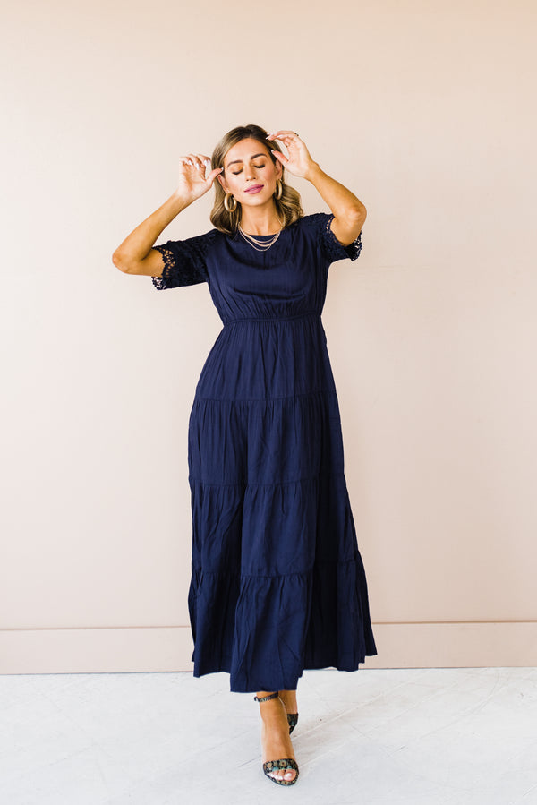 Mandy Dress in Dark Navy