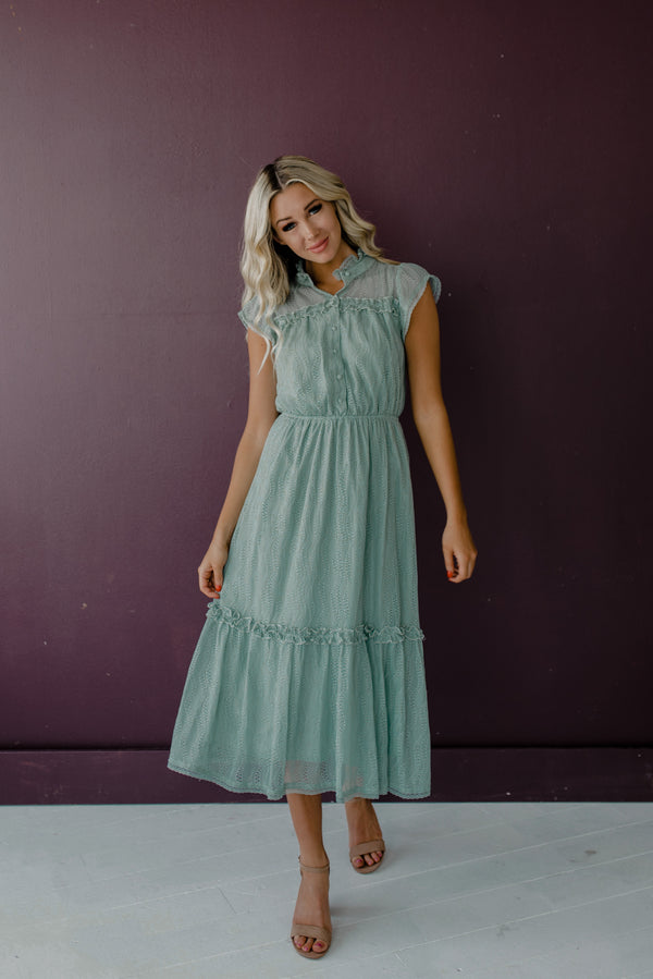 Mathilda Dress in Sage