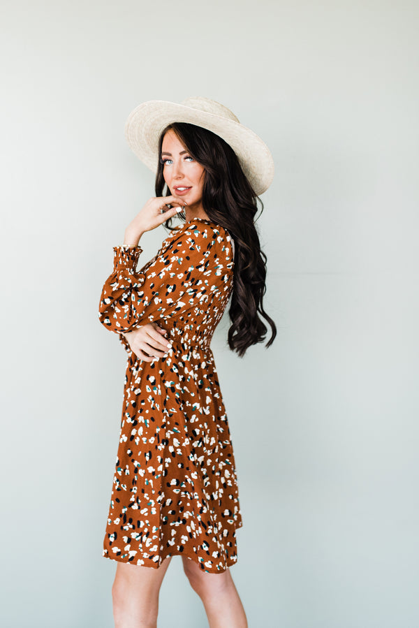 Brown fall Dress