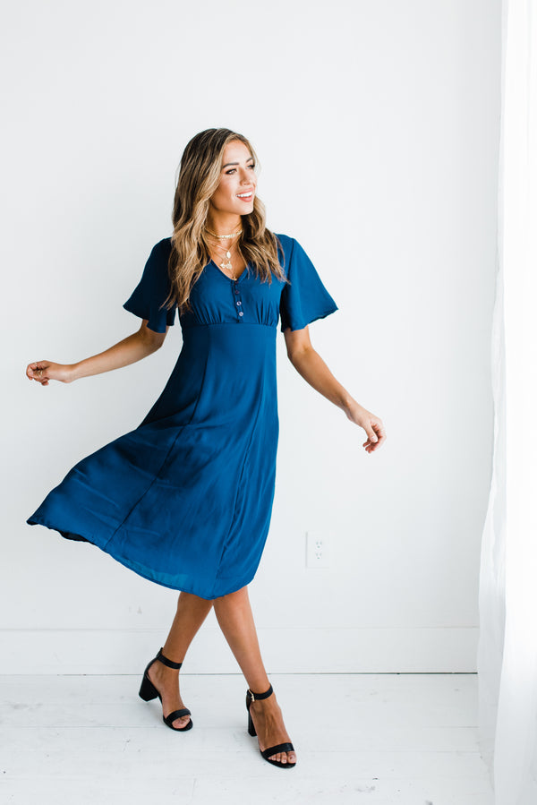 Skyler Dress in Navy