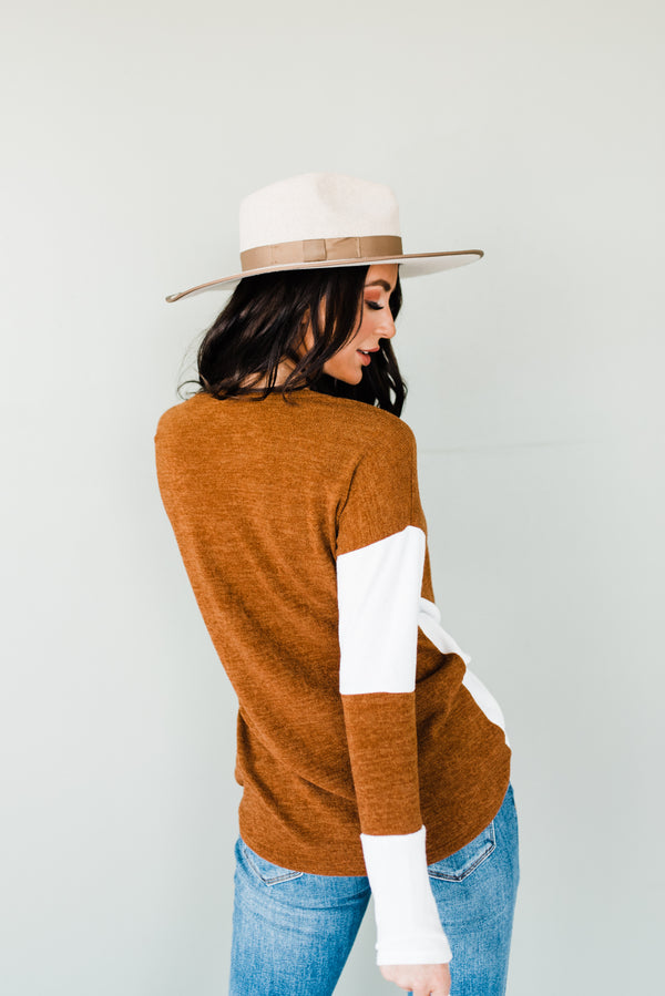 Brielle Sweater in Rust