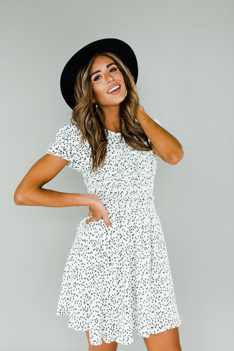 Alissa Dress in Ivory