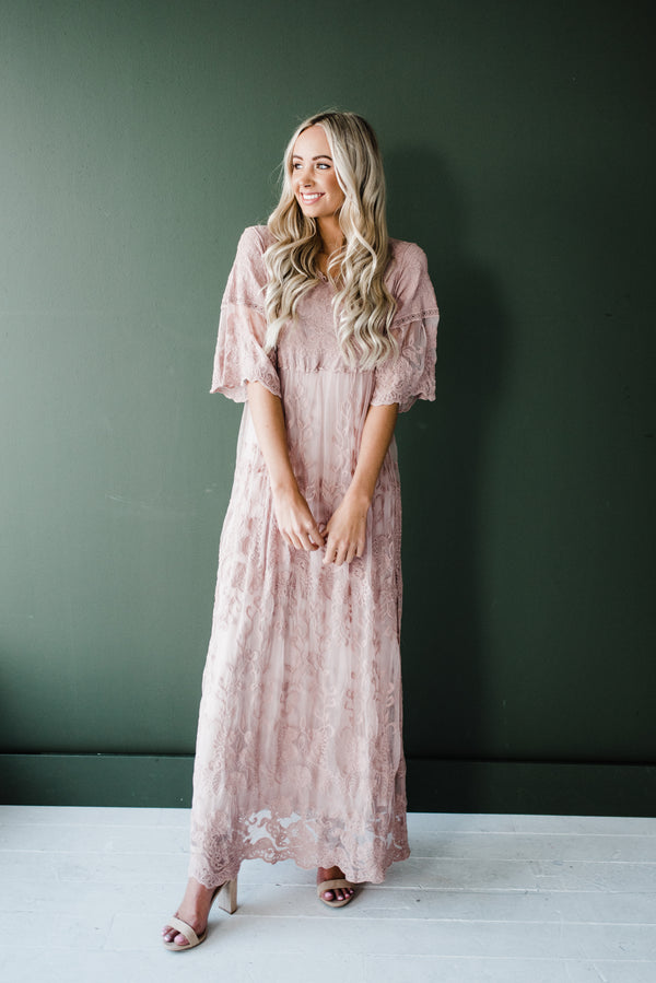 Jessica Dress in Light Mauve