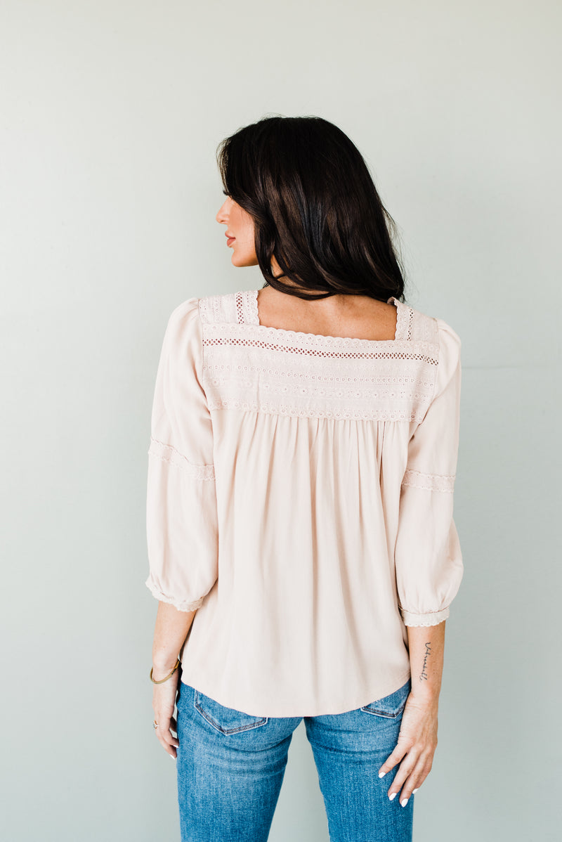 Kensington Top in Beige