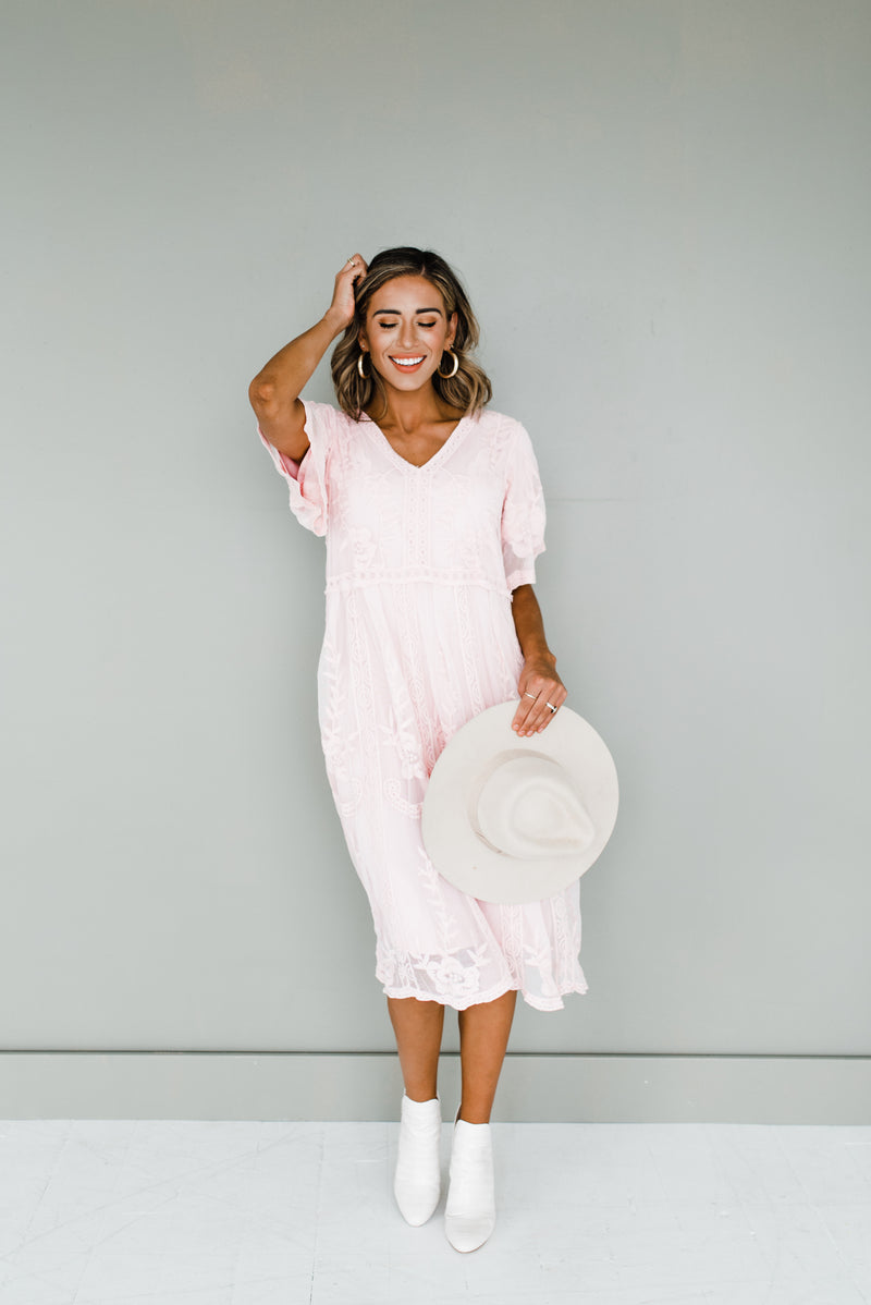 Taya Dress in Blush