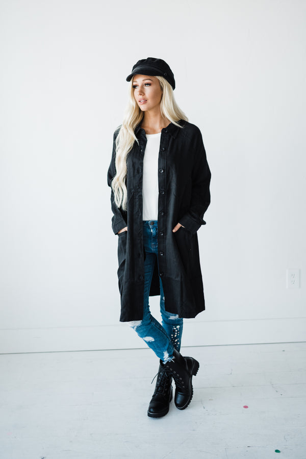 Black tunic jacket