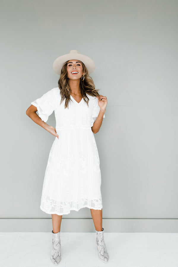 Taya Dress in White