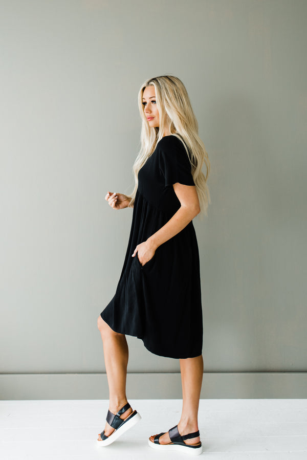 Black babydoll dress