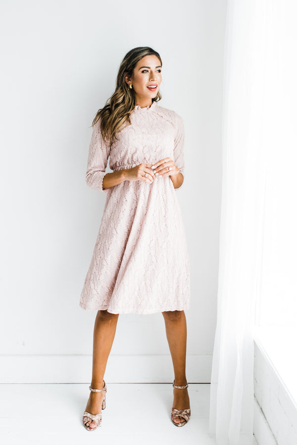 Marley Dress in Mauve
