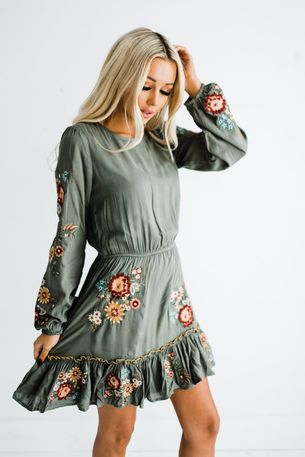 Cammy Dress in Olive