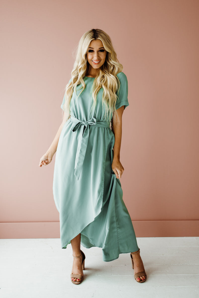 Esther Dress in Sage
